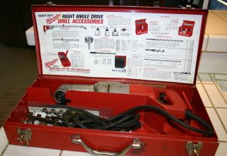 Milwaukee Heavy Duty Electric Corded 1 2 Right Angle Drill Metal Case