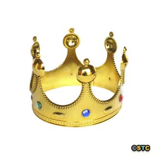 Royal Gold King Crown Halloween King Costume Accessory