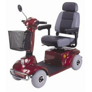 CTM HS 580 4 Wheel Mid Range Electric Mobility Scooter Red