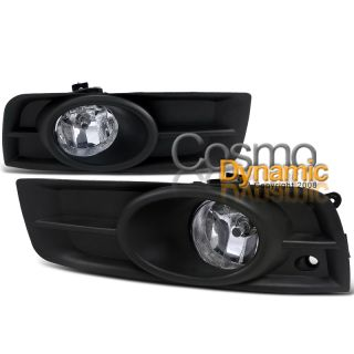 09 12 Chevy Cruze Chrome Fog Lights Clear Bumper Lamps Covers H8 Bulbs
