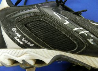 Corey Hart 2010 Autographed Signed Game Used Worn Baseball Cleats