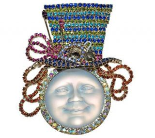 Kirks Folly Couture Mad Hatter Seaview Moon Pin —