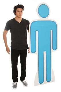 MAN SIGN LIFE SIZE CARDBOARD STANDUP BLUE MAN STANDEE PARTY EVENT 73 x