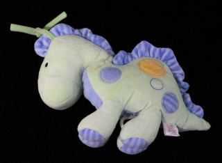 Carters Just One Year Musical Plush Dinosaur Baby Crib Toy