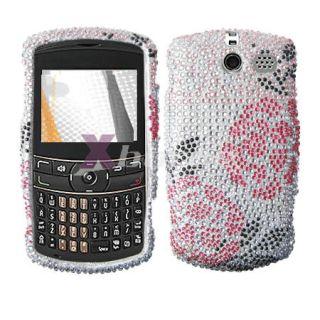 For Cricket A410 TXTM8 3G Hard Case Bling Pink Heart