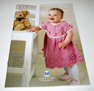 DALE of NORWAY BABY knitting pattern book #247 ages newborn to 3yrs 45