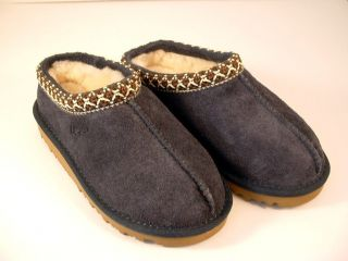 UGG Australia Kids Tasman Slippers Size 12 Dark Blue