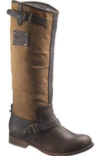 Womens Caterpillar Corrine Knee High Leather Boots Medium B M Brown