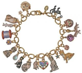Kirks Folly Best in Show Cat Charm Bracelet   J311870