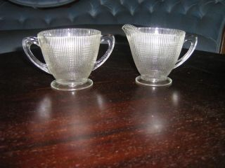 Saguenay Canadian Depression Glass Cream Sugar Bowl