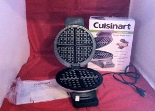 Cuisinart Waffle Maker EUC with box indicator lights nonstick