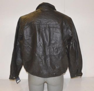 Croft Barrow Size Large Mens Black Leather Jacket