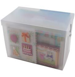 Cropper Hopper Card Storage Box NEW   can store over 300 cards video