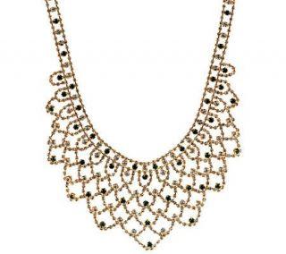 Jacqueline Kennedy Simulated Gemstone Bib Necklace   J271849