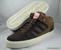 Adidas Culver Vulc Mid Mens Skate Shoes Suede G06329 Brown Red
