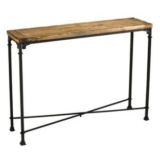 cunningham rustic iron reclaimed wood console like a gibson girl or an