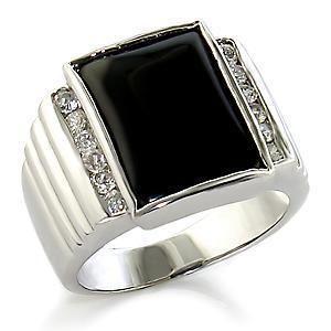 CZ April Stone Mens Custom Ring Wholesale Jewelry Size 7 15