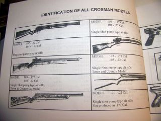 Crosman Authorized Gun Master Service Repair Manual Pellet