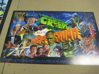 Rare Monster Creeps Poster (Monster Squad/Night of the Creeps Mash up