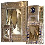 Hammered Copper Mexican Rectangular Wall Mirror Frame