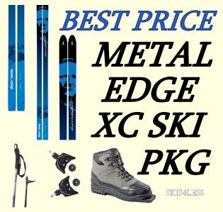 steel edge cross country ski package