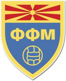 Macedonia Football Ass Team Crest Wall Window Car Sticker Decal Pick