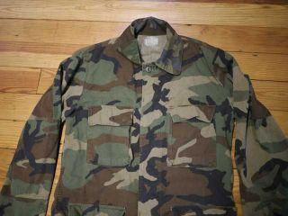 Vintage M65 MENS COTTON US Army Military Woodland Camo Battle Dress