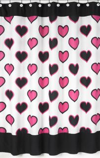 Twin Bed Skirt JoJo Design Pink Black Heart Bedding Set