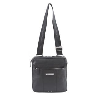 PIQUADRO Jazz Shoulder Pocketbook Genuine Black Leather CA1806W17