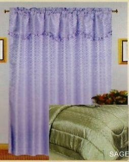 Green Sage Window Treatment Curtains Drapes Panel Set New