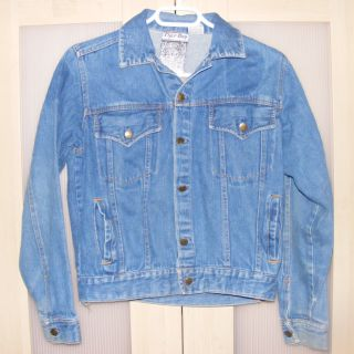 Blue Jean Denim Jacket NASA Young Crippen Patch Large