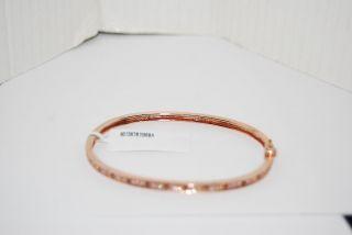 Crislu $200 Rose Gold Hinged Bracelet Multi Color CZ Crystals