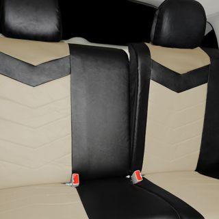 Synthetic Leather Semi   Custom Car Seat Covers 60 40 full split