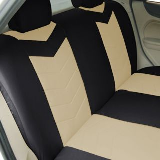 Synthetic Leather Semi Custom Car Seat Covers Solid Bench Sahara