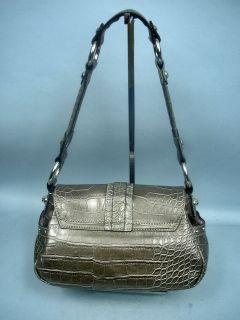 pa 17602 717 484 1137 preowned gray croc handbag by kathy van zeeland