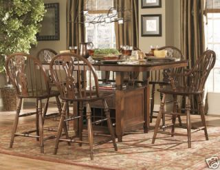 Country Oak Pub Dining Room Table Chairs Furniture Set