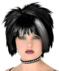 Adults Cyndi Lauper Style 80s Black Punk Fancy Dress Costume Party