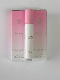 Versace Bright Crystal EDT 06oz Spray Sample X2