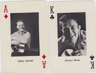 Jimmy Dean Eddy Arnold Country Western Music Singers Vintage Playing