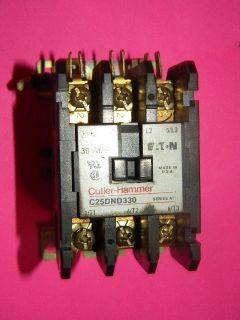 Cutler Hammer C25DND330 Contactor 30 Amp 3 Pole