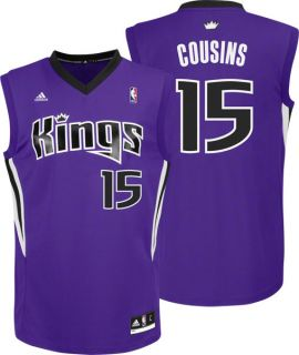 DeMarcus Cousins Jersey Adidas Purple Replica 15 Sacramento Kings