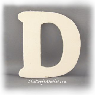 Letter D Plywood Unfinished Wood Home Decor