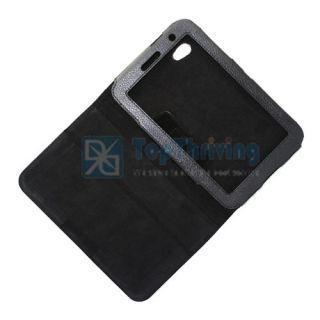 Black Folio Leather Case Film Guard Pen for Samsung Galaxy Tab 2 7 0