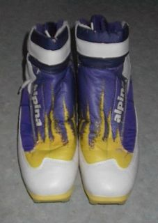 set of ALPINA cross country ski boots. These boots are a size 9