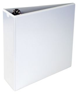 A4 3 Angle D 3 Ring White Vinyl View Binder