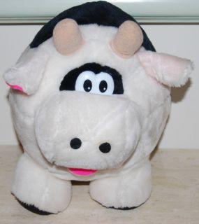 Cloud 9   12 tall Stuffed Animal Plush Black and White Fat Cow