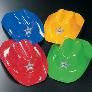 12 Kids Cowboy Hats Colorful Childs Western Party favors Birthday