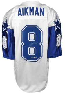 Autographed Troy Aikman Jersey Cowboys Custom PSA DNA Certified