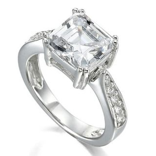 our other listings asscher cubic zirconia sterling silver wedding ring