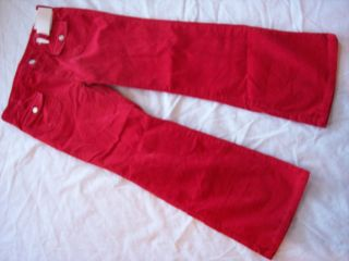 Girls Gymboree Cozy Cutie Red Corduory Adjustable Pants 8 Plus 10